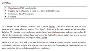 Imagen 2: Descripción de materiales necesarios.