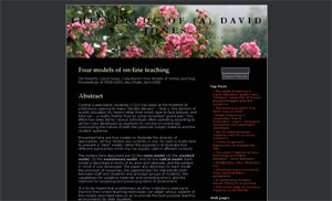 """Four models of on-line teaching"" de Tim Roberts, Celia Romm y David Jones (http:// davidtjones.wordpress.com/publications/four-models-of-on-line-teaching)"