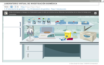 Laboratorio virtual en investigación biomédica