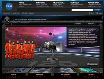 Recorrido interactivo del telescopio Hubble