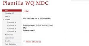 Plantilla WQ MDC (Domingo, 2009a)