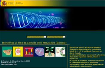 Biología, recursos multimedia de apoyo de las enseñanzas de biología