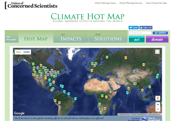 Climate Hot Map